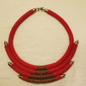Jewelry - Handmade African beaded zulu tribal necklace